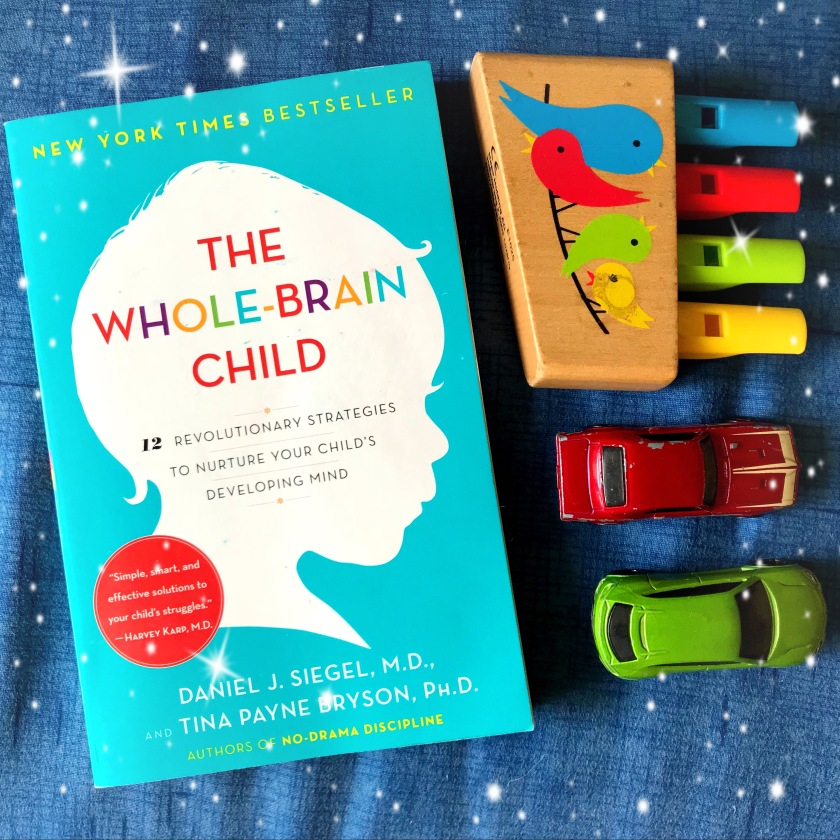 Book on parenting kept with kids toys