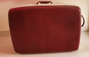 Vintage Samsonite hard case suitcase, cleaned and ready to be painted