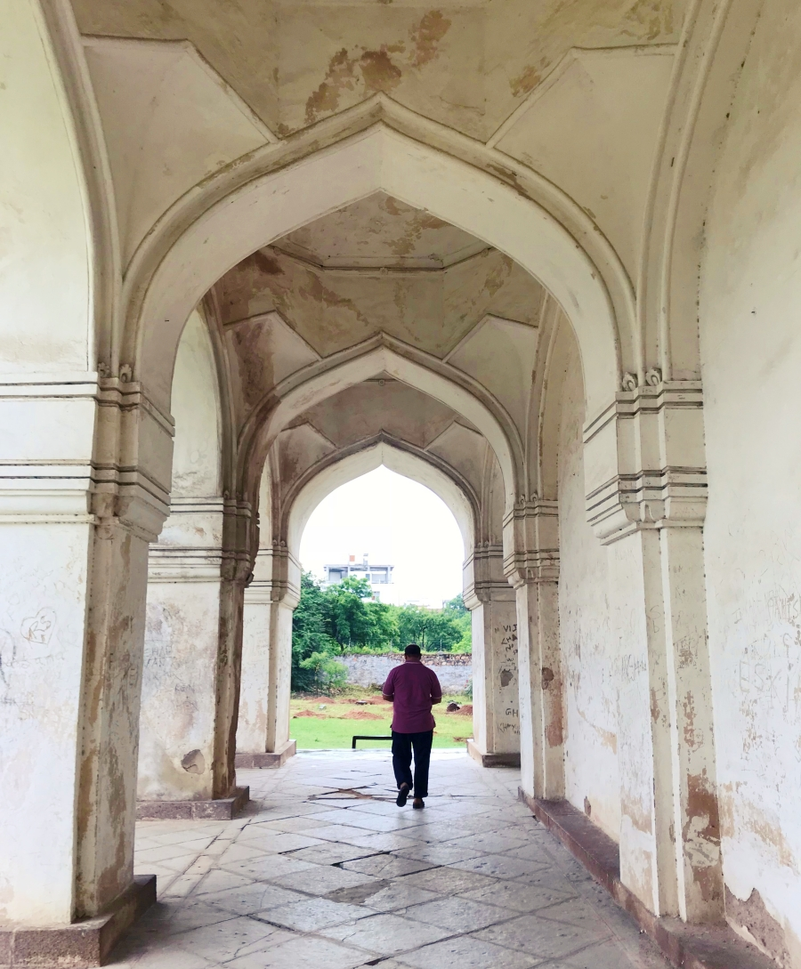 beautiful archway in white