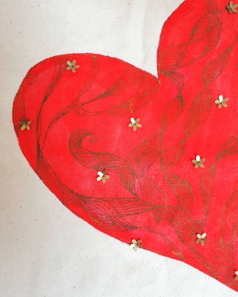 close up of a red heart