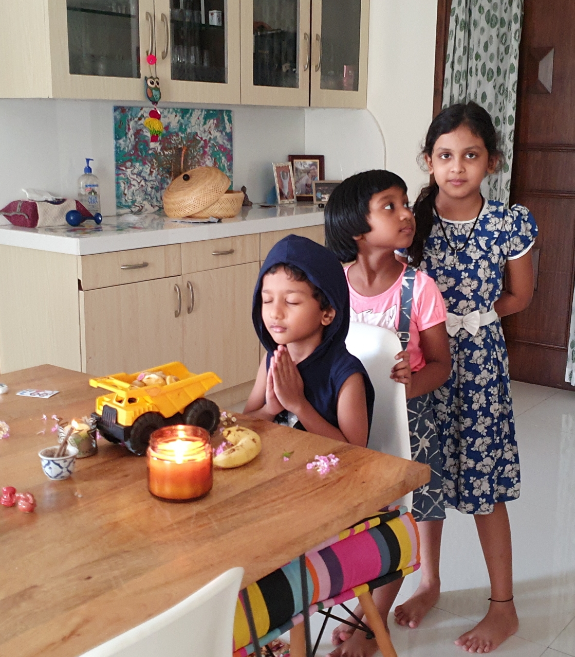 kids Praying at the altar