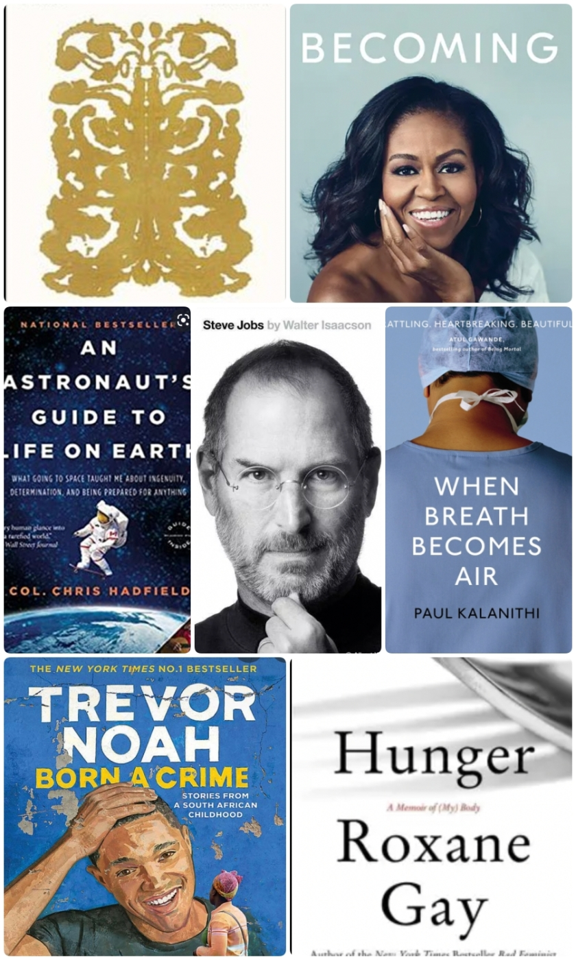 collage of book covers of biographies