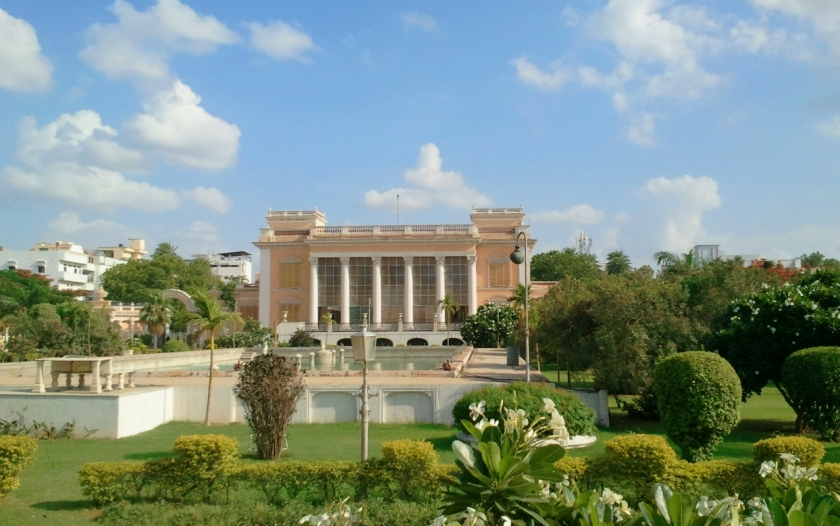 view of the chowmahalla palace grounds